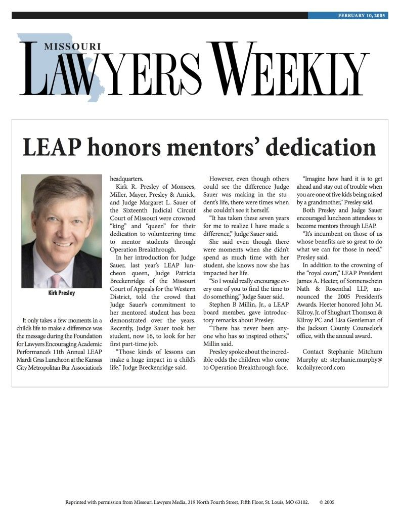 LEAP Honors Mentors' Dedication